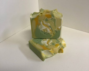 Pineapple Cilantro Soap / Artisan Soap / Handmade Soap / Soap / Cold Process Soap