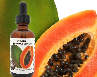 Virgin Papaya Seed Oil (undiluted, cold pressed, unrefined) combat skin imperfections, large pores, dark spots and blemishes.