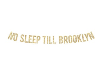 No Sleep Till Brooklyn Banner | Beastie Boys, New York, NYC banner, Brooklyn Party, Rap Banner, Hip Hop Banner, notorious big