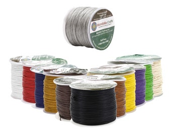Mandala Crafts Waxed Cord, Beading Cord, .5mm, 100 Meters, 109 Yards, Different Color Selections