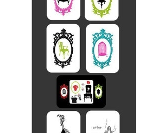 14 postcard set - Charming Medley
