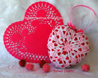 No Sew Quilted Heart Ornament Pattern