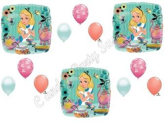 ALICE IN WONDERLAND Birthday Balloons Decoration Supplies Tea Party MadHatter