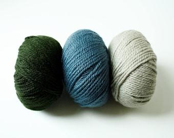 Superwash Wool, Aran Weight, Knitting Wool, Crochet Wool, Debbie Bliss Blue Face Leicester Bulky