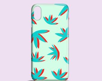 Cutout Plants phone case / Bright iPhone X case, iPhone 8, 8 Plus, iPhone 7, iPhone 6/6S, iPhone SE, 5, 5S, Samsung galaxy S7, S6, S5