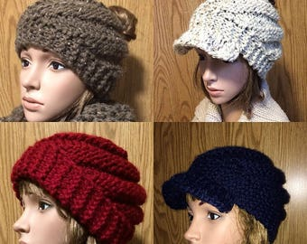Swirly Bun Hat, Beanie and Cap Pattern