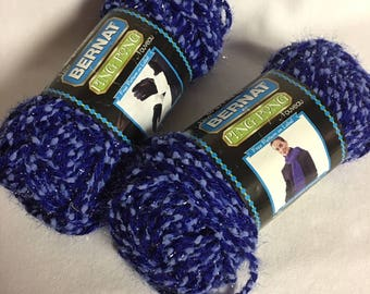 Bernat Ping Pong Bulky Yarn Color Blazing Blue  2 Skeins
