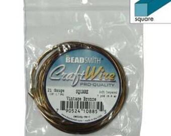 21 gauge Square Wire Vintage Bronze 7 yards