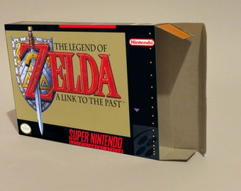 The Legend of Zelda a Link to The Past - box only - PAL or NTSC - SNES - thick cardboard as in the original.