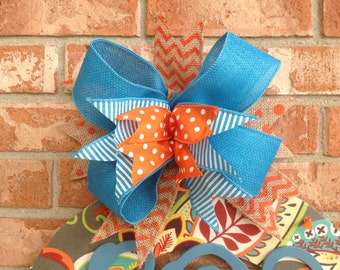 Custom Bow Handmade Bow Replacement Bow for Wreaths and Door Hangers Large Bow Gift Bow