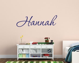 Name Wall Decal Personalized Name Decal Girls Name Decal Monogram Decal Nursery Decor Name Decal Vinyl Wall Decal