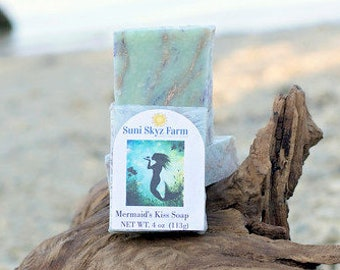 The Mermaid's Kiss Soap - Mermaid Soap - Handmade Soap - Artisan Soap - Soap For Her - Siren Soap - Sea Goddess Soap -Ocean Soap