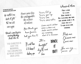 Grey's FOIL TV/Movie Quotes | Matte Glossy Clear Foiled Planner Stickers