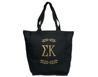 SK Sigma Kappa Letters Tote Sorority Tote Greek Licensed