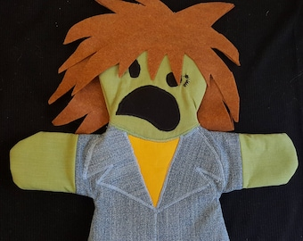 Zombie Mulletman Puppet