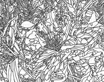 Large Flower - Adult Colouring Page #16 - flower nature printable coloring download