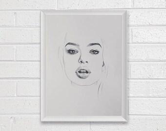 Print - Portrait Art Painting