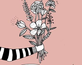 Love Card - Romance Card - I Like-Like You - Illustrated Card