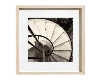 Spiral Staircase, Instant download, Photography, Staircase, Vintage Photography, Sepia, Print Yourself, Home Decor, Wall Decor