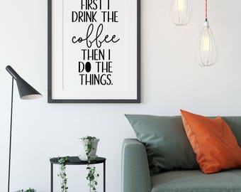 Coffee Sign - Coffee Bar Sign - Kitchen Wall Art - Kitchen Sign - Kitchen Wall Decor - Kitchen Art - Housewarming Gift - Hostess Gift