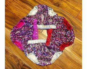 Purple Sequin bloomers