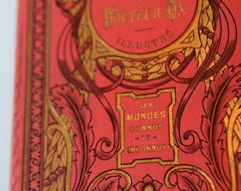Antique book, Jules VERNE, Le Docteur Ox, ca. 1920/1930, Illustrated, HACHETTE, excellent condition