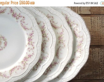 ON SALE Z S & Co. Bavaria Dinner Plates Set of 4 Orleans Zeh Scherzer and Company Wedding China Bridal Shower China Scalloped Plates