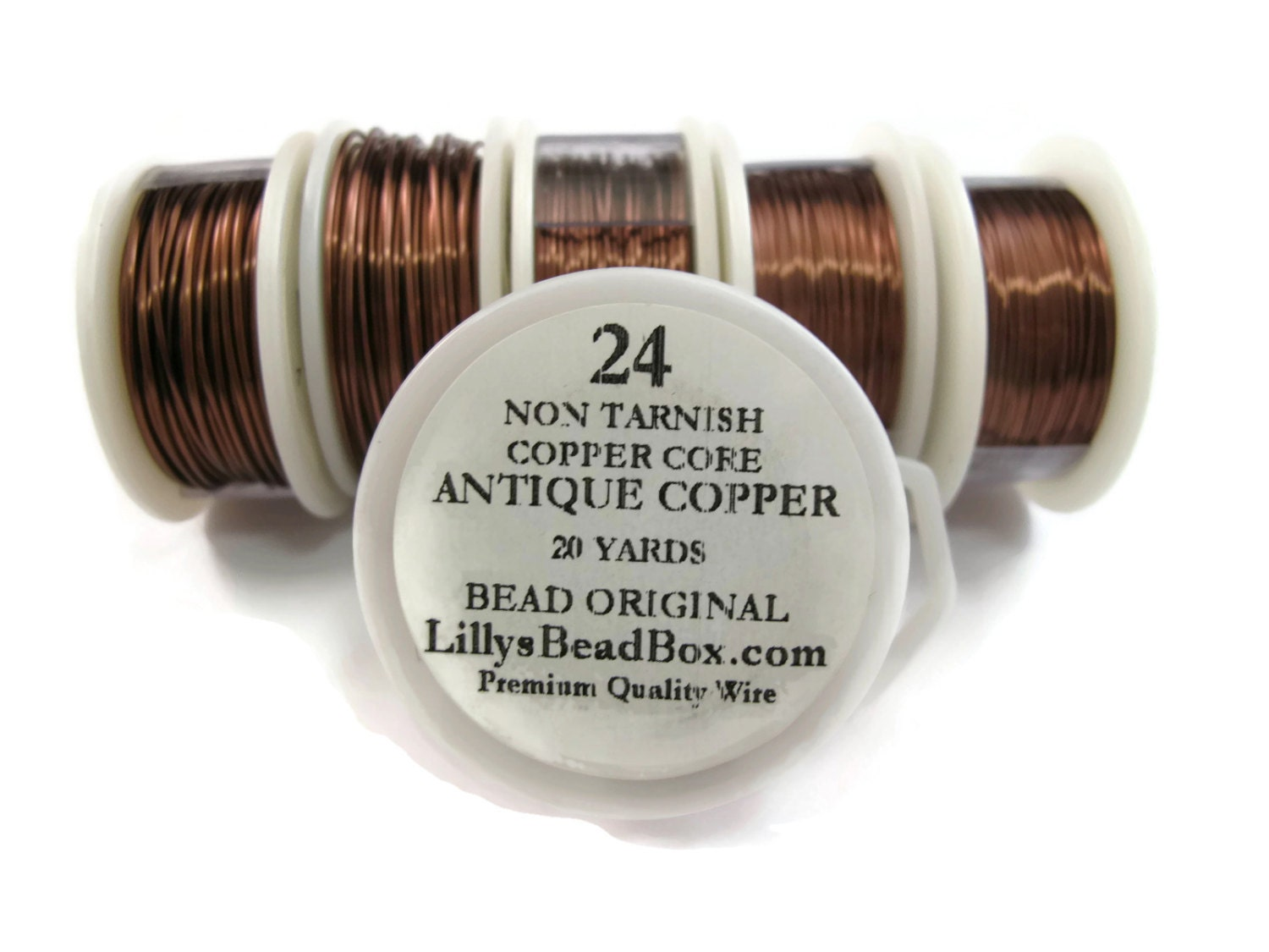 Antique Copper Wire - 24 Gauge Wire Wrapping Jewelry Supplies, Wire ...