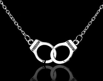 Freedom Handcuffs Necklace