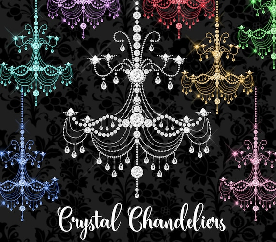 Crystal Chandeliers Clipart Diamond Chandelier Clip Art