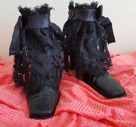 Steampunk Lace Club Formal Booties Inspired Costume Prom Party Bride Wedding Ankle Victorian Goth Satin Vintage wnx6qBX