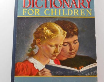 The Picture Dictionary for Children 1948 Walters Courtis Illustrated Vintage Nursery Decor Illustrations