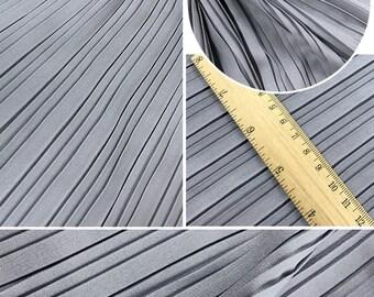 "2 meters 150cm 59"" width gray pleated chiffon fabric pearl yarn fabric wedding dress materials MM96 Free Ship"