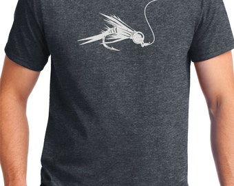 Fly Fishing ,Fly Shirt ,Fly Tying  , Trout ,Nymph Fisherman, fly fishing shirt,fishing shirt,Fishing,Flyfishing Gift. Fly Rod, Funny  Shirt