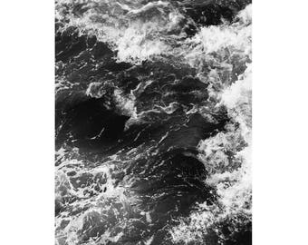 Black and White Wave Art Print, Wave Photography Wall Art, Black and White Art Prints, Ocean Print, Black and White Poster