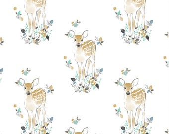 Woodland Baby Bedding - Fawn Crib Sheet / Nursery Bedding / Changing Pad Covers / Mini Crib Sheets /Baby Sheet Babiease Bedding Deer Nursery