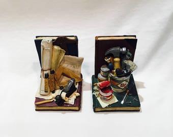 Dad bookends, Figi Graphics, Workshop bookends, Man cave decor, Handyman theme, Tool bookends, Bookcase Decor, Craftsman, Carpenter