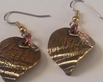 Brass Charm Earrings