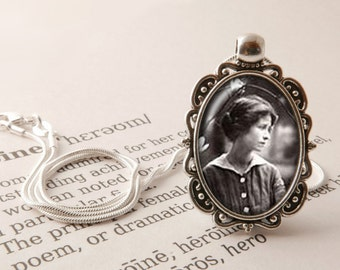 Edna St. Vincent Millay Pendant Necklace - Edna St. Vincent Millay Jewelry, A Few Figs From Thistles, Vintage Style Poetry Jewellery