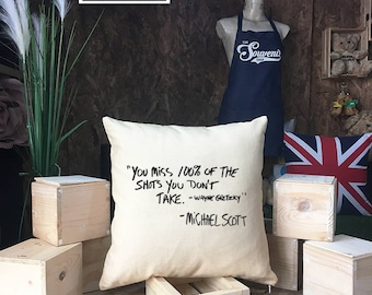 The office Pillow cover cotton canvas, Michael Scott Quote, The office Quote pillow cover, The office tv show, canvas pillow cover