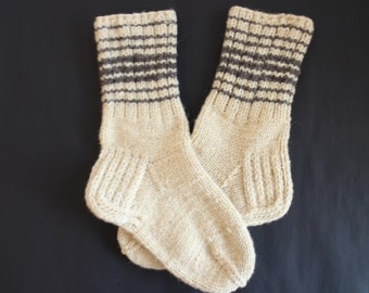 Socks hand knitted  Warm wool socks