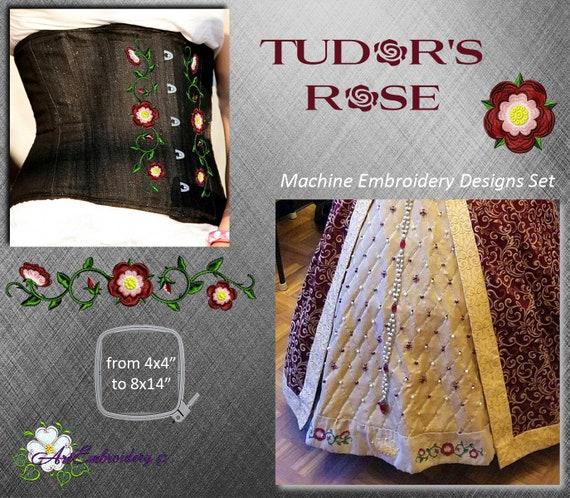 Tudor Rose Set Machine Embroidery Designs Set Of Single