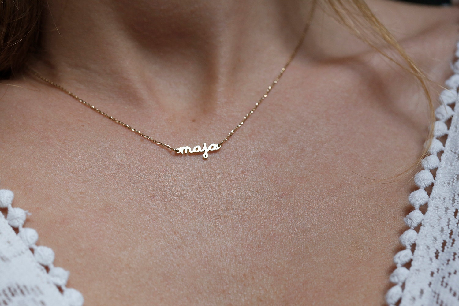 initial letter goldfilled l tiny gold pendant necklace