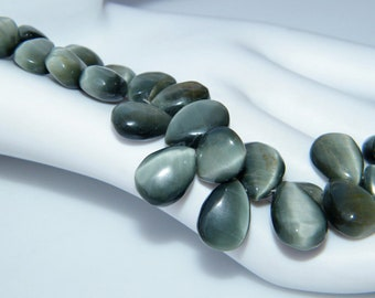 Cat's Eye Beads, Top Quality, Smooth Beads, Natural Beads, Moonstone Beads, Rare Semiprecious Beads