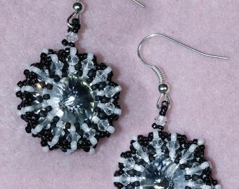 """Tutorial earrings """"Zebra"""""""