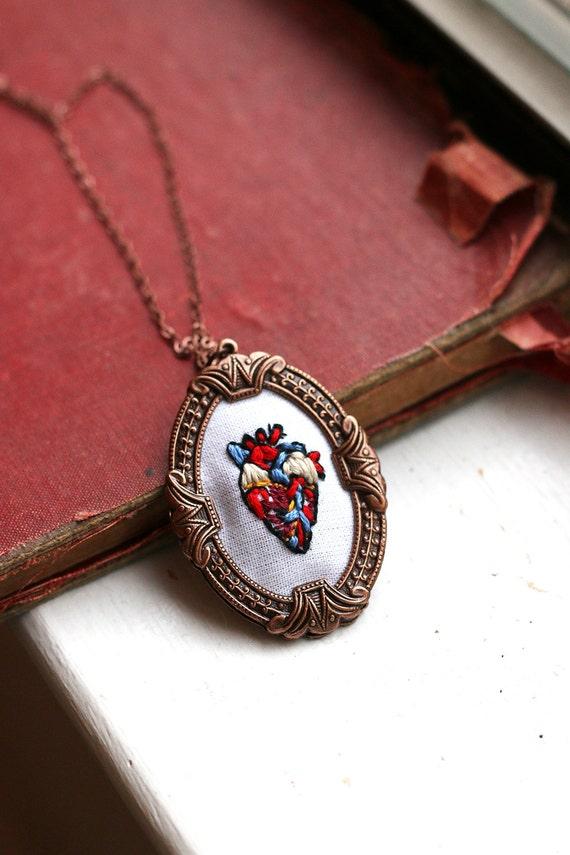 Anatomical Heart- anatomy, red, veins, heart