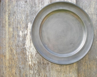 Vintage pewter plate large wall hanging Germany collectible collectoru0027s plate metal plate rustic primitive metal pewter tin farmhouse decor : antique tin plates - pezcame.com