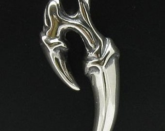 PE000114 Sterling silver pendant Claws Biker Gothic solid 925