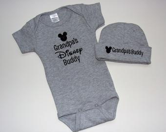 Custom disney onesie etsy baby set outfit personalized baby hat and onesie disney custom design shower gift negle Choice Image