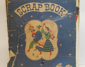 Vintage 1950's-1960's Recipe Baking Cooking Scrapbook